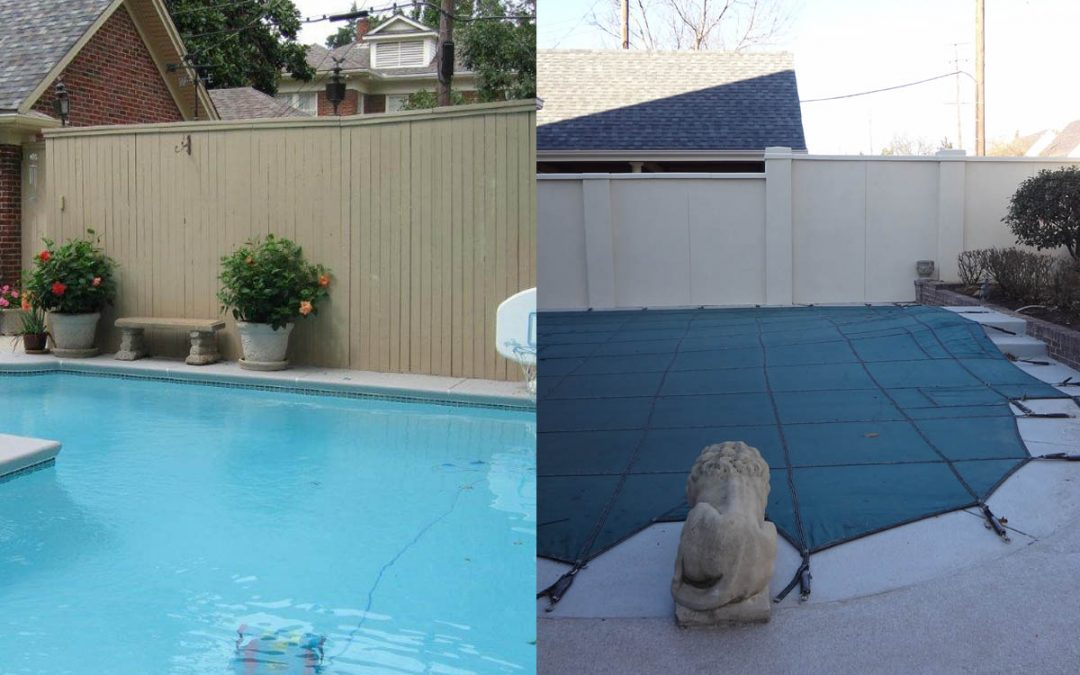 Stucco Wall Before and After